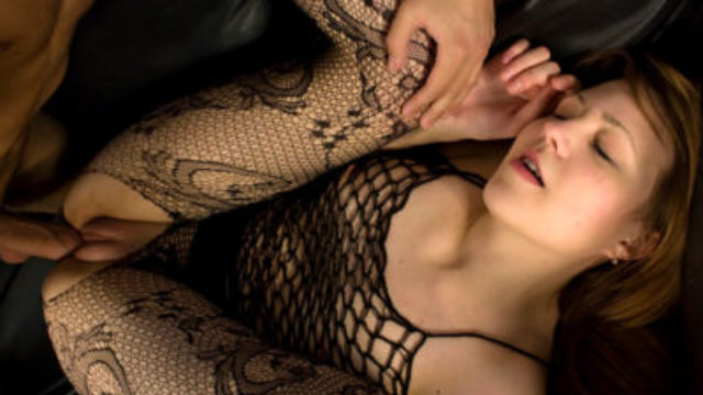 Wild Teenager In Fishnet Nailed