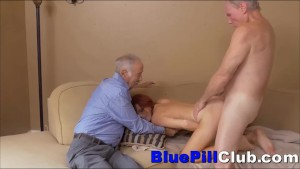 Breaking Australian Teenager Ultra-cutie Provides Wild Drill To Two Elder Guys